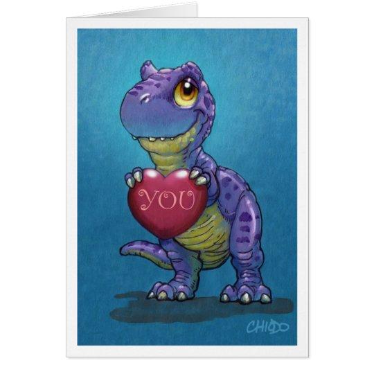 T-Rex Valentine Card