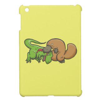 T-rex vs Platypus iPad Mini Cases
