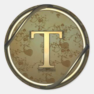 t round sticker