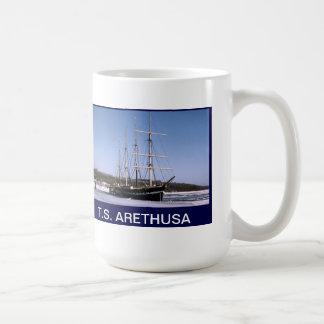 T.S. Arethusa on the frozen River Medway Basic White Mug