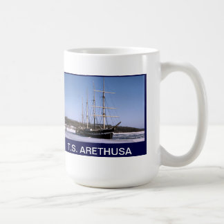 T.S. Arethusa on the frozen River Medway Coffee Mug