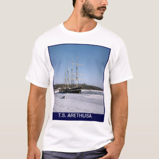 T.S.Arethusa  on the frozen River Medway T-Shirt