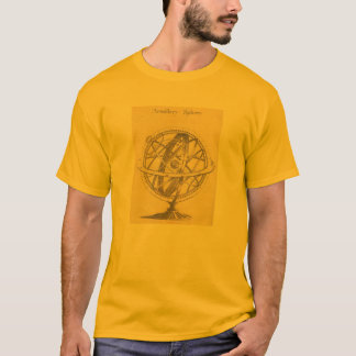 T-Shirt Armillary Sphere, spinning astronomy Globe