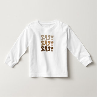 T-shirt baby, baby, baby with long sleeves