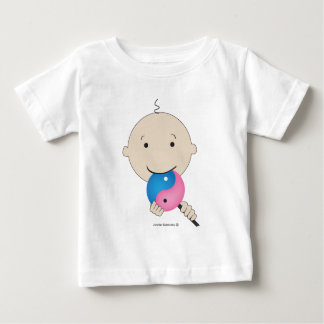 T-shirt - baby with yin yang lollipop