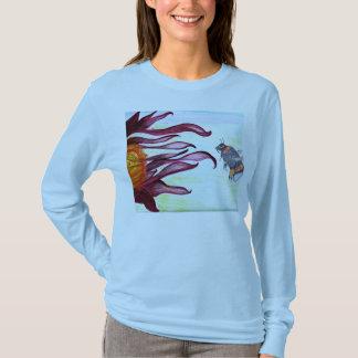 T-Shirt - Bee and Flower Art