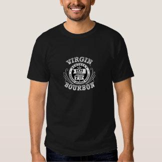 T-Shirt Black White Old Virgin Bourbon Label