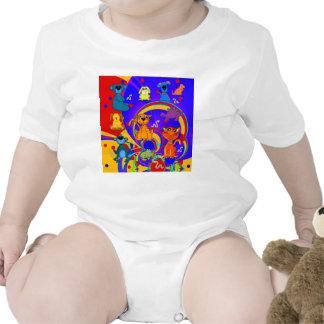 T-Shirt Boys Baby Kid s Animals Collage Bodysuit