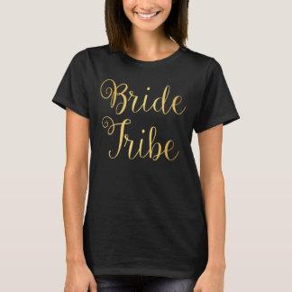 T-Shirt - Bride Tribe matron of hon golden
