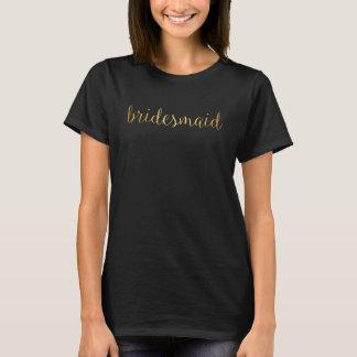 T-Shirt - bridesmaid golden