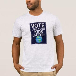 T-shirt (Cartoon Earth) - Vote Like Your Kids ...