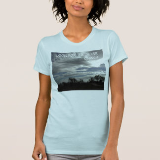 T-shirt: Clouds-in-Dark-Sky over Oak Trees Tee Shirts