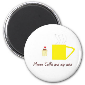 T-Shirt coffee and Cup Cake Magnet