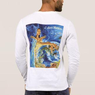 T-shirt coton col V Homme I Love Natura