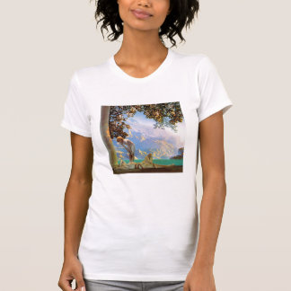 T-Shirt: Daybreak - by Maxfield Parrish