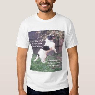 T-Shirt Dog Horse Poem By Ladee Basset