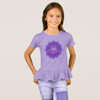 T-Shirt for girls with violet mandala