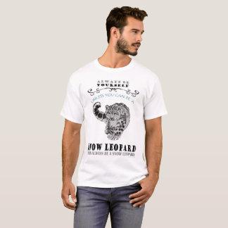 T-Shirt for Snow Leopards - mens
