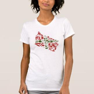 "T-shirt ""fount cross-beam logo"" ladies (American"
