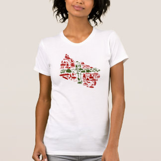 "T-shirt ""fount cross-beam logo"" ladies (American"