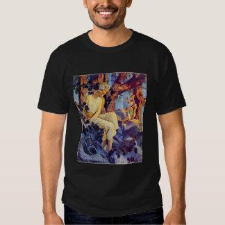 T-Shirt: Girl with Elves Tee Shirt