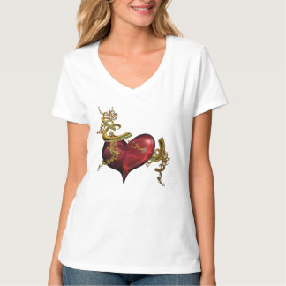 T-Shirt, Gold and Heart T Shirts