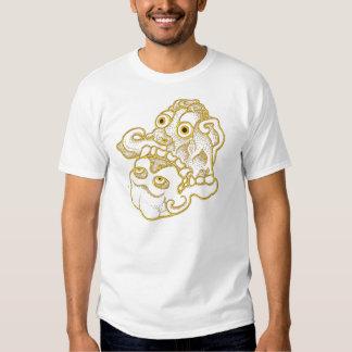 T-shirt Gold skull2