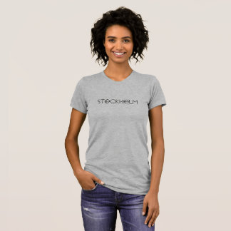 T-shirt grey with marks Stockholm'