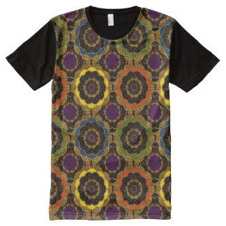 T-Shirt | Groovy retro mod flower hippy pattern All-Over Print T-Shirt