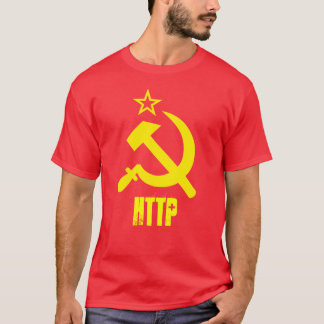 T-SHIRT HTTP - YELLOW CCCP