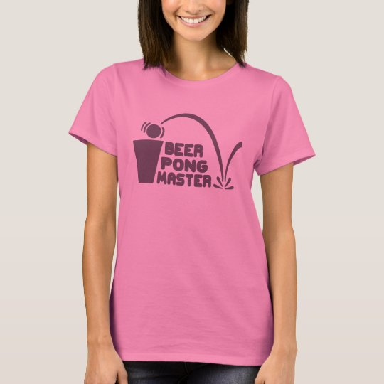 T-Shirt Humour, Beer Pong Master