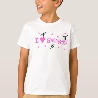 T.shirt - I Love Gymnastics motif T-Shirt