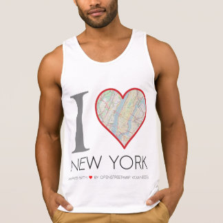 T-shirt I love New York. OpenStreetMap