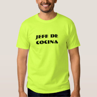 t-shirt, jefe de cocina, espanol shirts