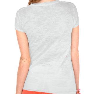 T-shirt (Joust) Feminine Burnout, Vintage White