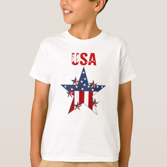 T-shirt Kid's Boys Patriot Stars USA