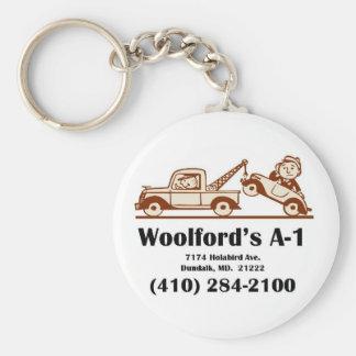 t-shirt logo w-address key ring