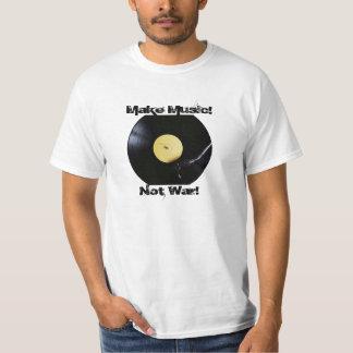 T-Shirt: Make Music! Not War! T-shirts