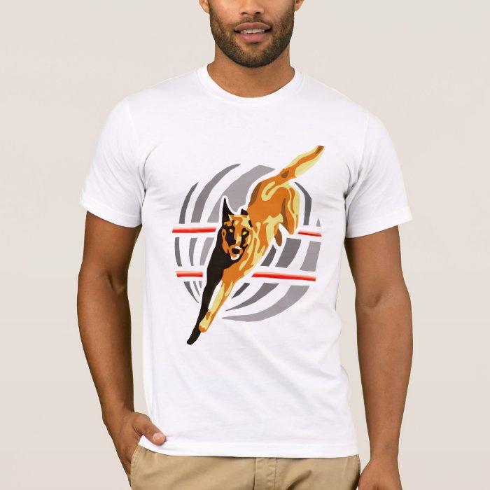 T-shirt malinois saut