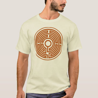 T-Shirt medieval labyrinth circle small