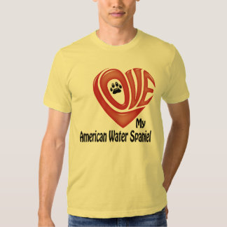 T-Shirt Men's- Love- My American Water Spaniel