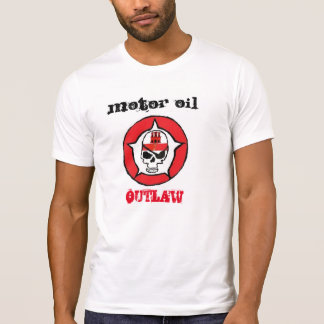 T-Shirt motor with motor oil outlaw image
