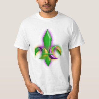 T-shirt New Orleans Fleur De Lis Mardi Gras Colors