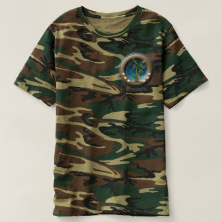 T-shirt of camouflage for man, Green forest