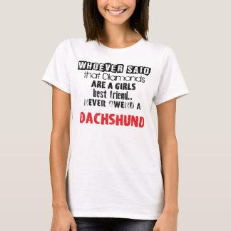 """T-shirt of """"Diamond Girl´s best friend"""" badger dog"""