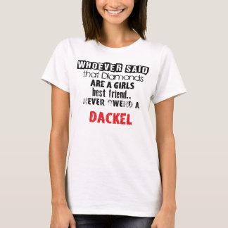 "T-shirt of ""Diamond Girl´s best friend"" dachshund"