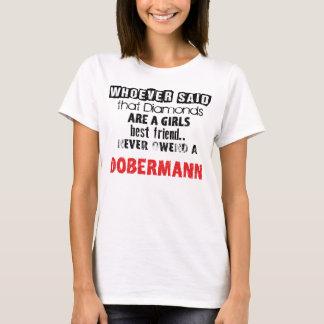 "T-shirt of ""Diamond Girl´s best friend"" Dobermann"
