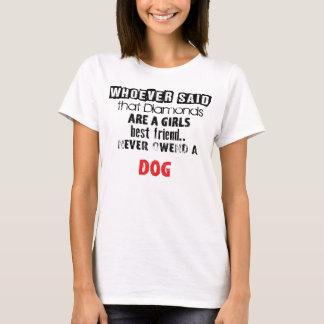 "T-shirt of ""Diamond Girl´s best friend"" Dog"