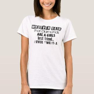 "T-shirt of ""Diamond Girl´s best friend"" free text"