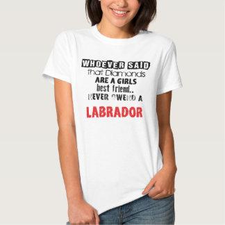 """T-shirt of """"Diamond Girl´s best friend"""" Labrador"""